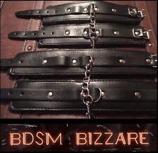 Bondage kit hand cuffs ankle cuffs restraints role play HIGH QUALITY SET .....