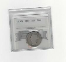 **1887**, Coin Mart Graded Canadian, 25 Cent, **G-4**