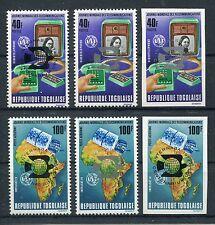 Togo 1045/46 postfrisch alle 6 Werte postfrisch / UPU - Weltraum .........1/2399