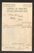 """TOURS (37) QUINCAILLERIE / AUX FORGES DE VULCAIN """"LORIAU & AMALRIC"""" 1939"""