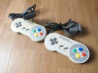 Nintendo Super Famicom 2 controller set SNES  Japan SFC
