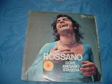 """ROSSANO """" DOVE ANDIAMO STASERA? """" UN DISCO PER L'ESTATE'72  ITALY'72"""