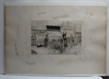 """Anthony Gross Rare '31 Etching """"Armourer's Shop"""" Important British Modern Artist"""