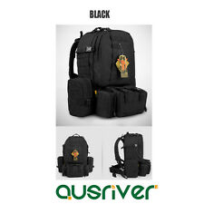 Outdoor Hinking Sports Travel Tactical Combination Backpack Military Bag Black