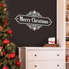 Feliz Navidad Ornamento Floral Decoración De Pared Calcomanía Navidad Pared/Hogar/escaparate