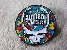 GRATEFUL DEAD AUTISM AWARENESS PUZZLE STEALIE 1 1/4 inch PIN