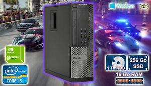 PC Gamer Core i5, GT 710 2Go , 16Go Ram, 256 Go SSD, 1 To Disk Dur Windows 10