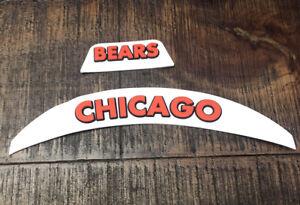 Chicago Bears 3D Bumpers For Riddell  Speedflex Full Size Football Helmet