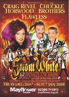 The Chuckle Brothers, Craig Revel Horwood, Flawless Hand Signed Flyer Autograph