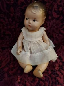 """Vintage Alexander Dionne Quintuplet Composition Doll Painted Features 7"""" Cute"""