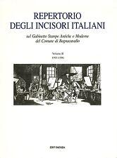 LIBRO Repertorio degli incisori italiani... Comune di Bagnacavallo Stampe II