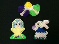 Easter Pins Lot #5 - Bunny Basket Spring Eggs Plastic Canvas