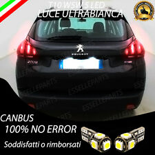 COPPIA LUCI TARGA 5 LED PER PEUGEOT 2008 T10 W5W CANBUS 100% NO ERRORE