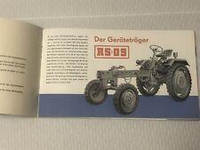 DDR Prospekt RS09 Traktorenwerk Schönebeck