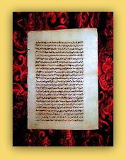 CANON MEDICINAE, AVICENNA, MEDICINE-HANDWRITING, PERSIA, ORIGINAL, 700 YEARS OLD