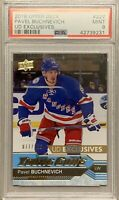 2016 17 UPPER DECK Pavel Buchnevich PSA 9 YOUNG GUNS EXCLUSIVES RC ROOKIE #/100
