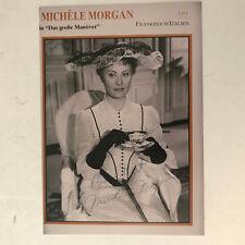 Michèle Morgan - Film -  original Autogramme - Größe - 18 x 12  cm