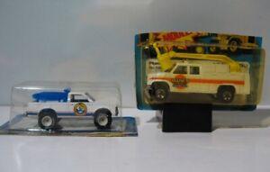 2  Hot Wheels Real Riders - Sandee Beach Patrol 4368,  Mark's Phone Truck 5906
