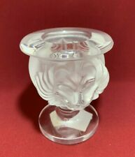 Lalique Tete D' Lion Double Lion Head Candle Holder or Cigarette Holder