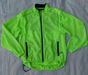 Canari Neon Yellow Full Zip Cycling Windbreaker Jacket Mens Large - FLAW
