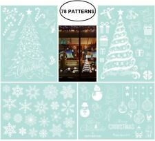 Christmas Window Cling Stickers Home Party Decorations Set of 78 Designs Display