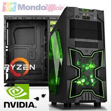 PC Computer GAMING AMD RYZEN 5 1400 3,40 Ghz - Ram 8 GB - HD 1 TB - GTX 1050Ti