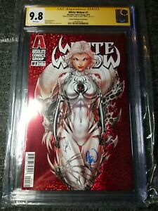 WHITE WIDOW 1 CGC SS 2nd PRINT RED FOIL VARIANT 2X SIGNED TYNDALL & POWELL