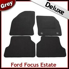 Ford Focus Estate Mk2 2004-2011 Tailored LUXURY 1300g Carpet Car Floor Mats GREY