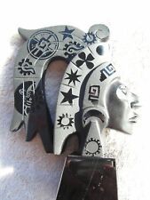 AZTEC HEAD OBSIDIAN STONE BLACK COLOR NEW. READ BEFORE BUY THANKS.