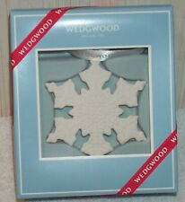 Wedgwood Jasperware 2017 White Christmas Snowflake Ornament 40024163 New In Box