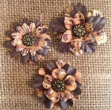 Handmade Flower Rustic Fall Autumn Barn Wedding Bridal Cake Shower Country Chic