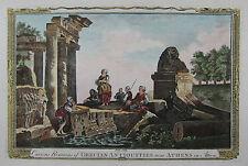 Ruinen bei Athen - Attika - Griechenland - Original aus Baldwyn 1794