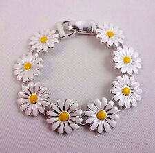 Daisy bracelet yellow white silver base metal Icon Collection
