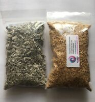 2 BAGS PALO SANTO SAWDUST 60 GR AND California White Sage Smudge Leaf 60 GR