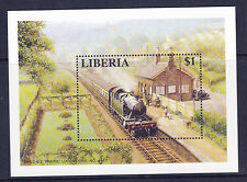 LIBERIA GWR PRAIRIE STEAM LOCOMOTIVE $1 MINIATURE SHEET MNH