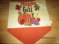 """Fall Padded Runner-Embroidered """"Happy Fall""""-72"""" X 13""""-#R20"""