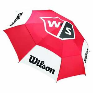 BRAND New Wilson Staff golf - Staff  68 inch   Umbrella Red / White