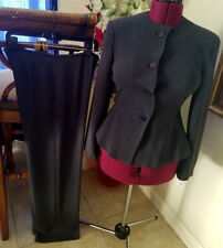 Giorgio Armani Collezioni Pant Suit 8/10 Jacket Navy Euro 44/46 Slacks Women 's