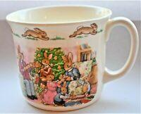 Vintage Royal Doulton Bunnykins Merry Christmas from Bunnykins Cup 9cm diameter