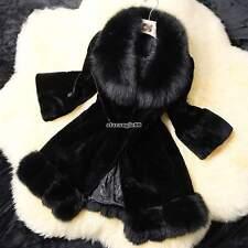 donne di lusso faux sottile pelliccia di volpe cappotto giacca parka outwear