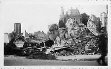 45 GIEN PHOTO GUERRE 39/45 RUINES SUITE BOMBARDEMENTS OFFICIER ALLEMAND
