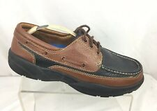 Dr. Comfort Patrick Men's Therapeutic Casual Boat Shoe Black/ Brown Sz 8.5 W