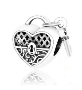 Reduced PANDORA Fitting Lock And Key 925 Stamped Silver Charm