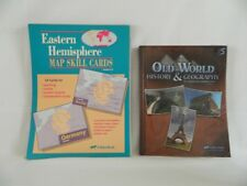 ABeka Old World History student  w. Eastern Hemisphere Map Skill Cards  5th GR