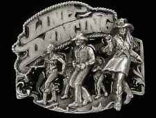 LINE DANCING BELT BUCKLE SOLID PEWTER  NEW!