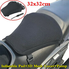32X32cm Airbag Inflatable Pad Mat Motorcycle Seat Cushion 3D Mesh Cover+Pump Kit