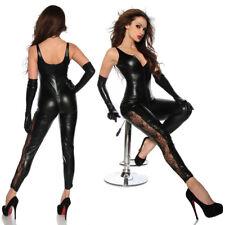 Completo Tuta Cavallo Aperto Dominatrice Mistress Clubwear Canottiera Sexy Pizzo