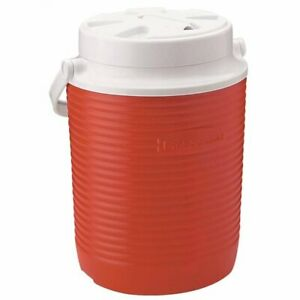 Rubbermaid 1 Gallon Red Water Jug/Cooler. Stain & Odor Resistant