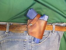Leather Holster for Glock 19  9 MM Semi Auto, Right Hand, Slim Profile