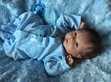 CUSTOM MADE REBORN BERENGUER BABY BOY DOLL ROOTED HAIR BARGAIN